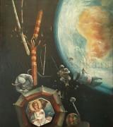 Milic od Macve 83x124cm – Crni kosmos pozdravlja Belog Andjela – 1977. godine