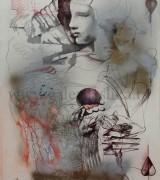 Olja Ivanjicki 57x77cm ulje-olovka-akvarel-flomaster-sprejevi na kartonu