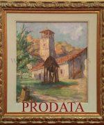 Beta Vukanovic 47x56cm – Studenica – 1928. godina – ulje na platnu – svojstvo znacajnog kulturnog dobra