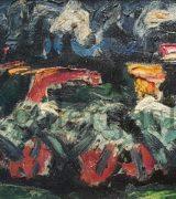 Milan Konjovic 34x65cm – Kukuruz. zito XII – 1959. godina – koloristicka faza – ulje na lesonitu – monografija broj 1948 – svojstvo kulturnog dobra