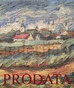 Milan Konjovic 35x65cm 1946. godina – Zeleno zito. tornjevi – ulje na lesonitu – monografija broj 1122 – svojstvo kulturnog dobra