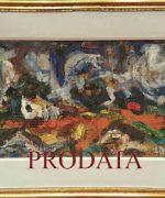 Milan Konjovic 38x73cm – Slanaca. salasi – 1970. godina – ulje na lesonitu – monografija broj 2540 – svojstvo kulturnog dobra