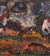 milan-konjovic-51x93cm-salasi-na-jarosu-1974-godina-asocijativna-faza-ulje-na-lesonitu-monografija-broj-2214-svojstvo-kulturnog-dobra