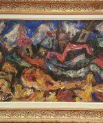 Milan Konjovic 60x92cm – Tornjevi. krstine – 1977. godina – ulje na lesonitu – monografija broj 2930 – svojstvo kulturnog dobra