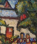 Milan Konjovic 65x81cm 1977.godina – Dve devojke – ulje na lesonitu – monografija broj 2918 – svojstvo kulturnog dobra