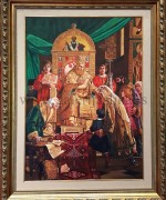 Pedja Radovanovic 100x70cm – Sveti Sava blagosilja Srpcad (po Urosu Predicu)