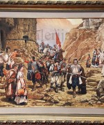 Pedja Radovanovic 70x100cm – Povratak cete Crnogoraca iz boja (po Paji Jovanovic)