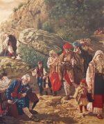 pedja-radovanovic-80x100cm-hercegovacki-begunci-po-urosu-predicu