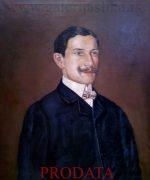 Jovan Bijelic 74x60cm – Portret Pavla Tijesica 1907.godina – ulje na platnu – svojstvo kulturnog dobra