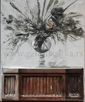 Mica Popovic 1974.god. 60x75cm – ulje na platnu 3D – svojstvo kulturnog dobra