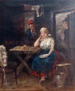 Stevan Aleksic 25x30cm – 1919.godina – ulje na platnu – svojstvo kulturnog dobra