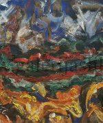 Milan Konjovic 54x73cm – Zito – ritam – 1966. godina – ulje na lesonitu – monografija broj 2336 – svojstvo kulturnog dobra