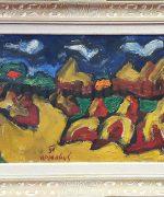 Milan Konjovic 54x81cm – Krstine. salas -1954 godina-ulje na lesonitu-monografija broj 1595 – svojstvo kulturnog dobra