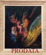 Stojan Aralica 85x70cm – Zodijacki znaci,Kosmos – 1965.godina-ulje na platnu-svojstvo kulturnog dobra