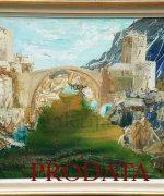 Pedja Milosavljevic 90x117cm – Mostarsko leto – 1976. godina – ulje na platnu -svojstvo kulturnog dobra