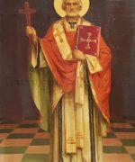 Uros Predic 48x32cm – Sv. Nikola – 1928. godina – ulje na platnu – svojstvo kulturnog dobra – objavljena u monografiji Uros Predic, M. Jovanovic na str. 277