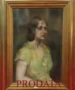 Milena Pavlovic Barili 75x50cm – Portret Adriene Mirkovic – 1931. godina – pastel na papiru – svojstvo kulturnog dobra