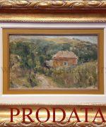 Milenko Serban 28x43cm – Kuca u sumarku – 1943. godina – ulje na kartonu – svojstvo kulturnog dobra
