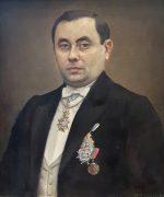 Milos Golubovic 54x66cm – Portret Zivojina M. Paunovica – 1928.godina – ulje na platnu