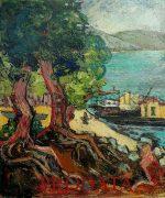 Petar Lubarda 60x50cm – Predeo pored mora – 1947.godina – ulje na platnu – svojstvo znacajnog kulturnog dobra