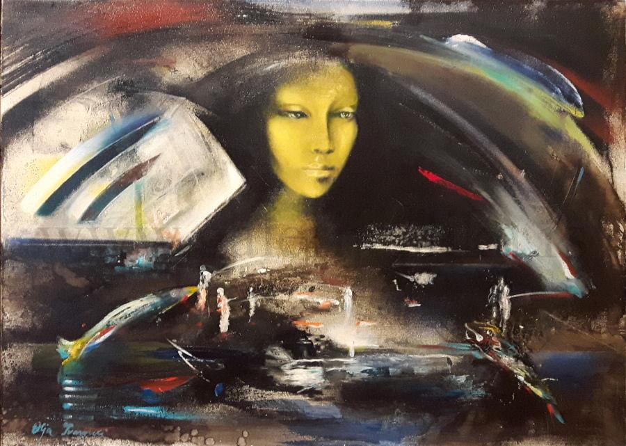 Slikarka Olja Ivanjicki Slike Ulje Na Platnu Akvarel