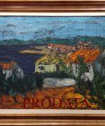 galerija slika Stojan Aralica 65x80cm – Motiv iz Rovinja III – ulje na platnu