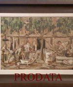 galerija slika Nedeljko Gvozdenovic 37x50cm – Gradiliste – ulje na platnu – 1948.godina